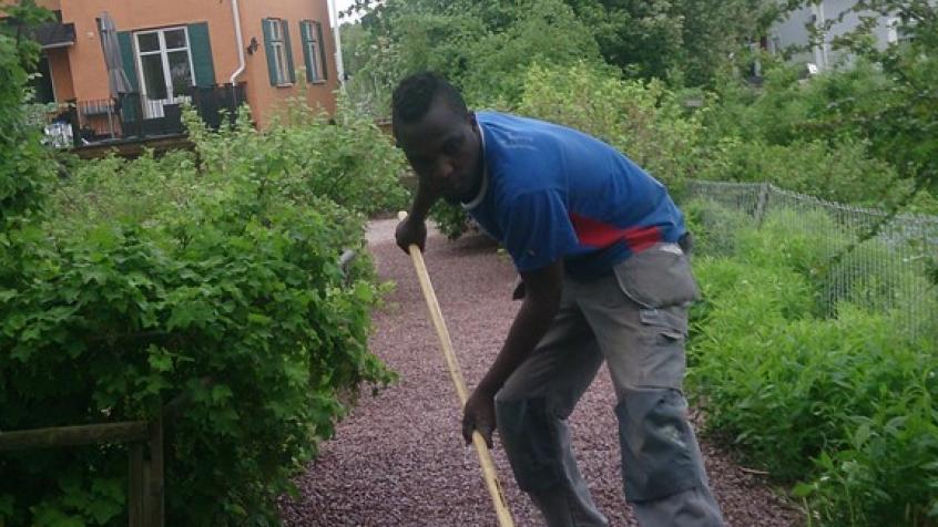 Isaya krattar ut det sista gruset
