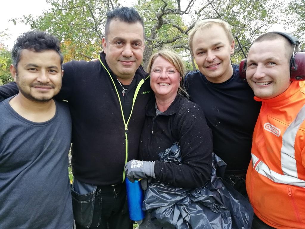 Här är gänget på kursen. Från vänster: Anil, Achour, Tina, Piotr och David