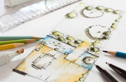 Trädgårdsarkitekt, trädgårdsritning, anlägga trädgård