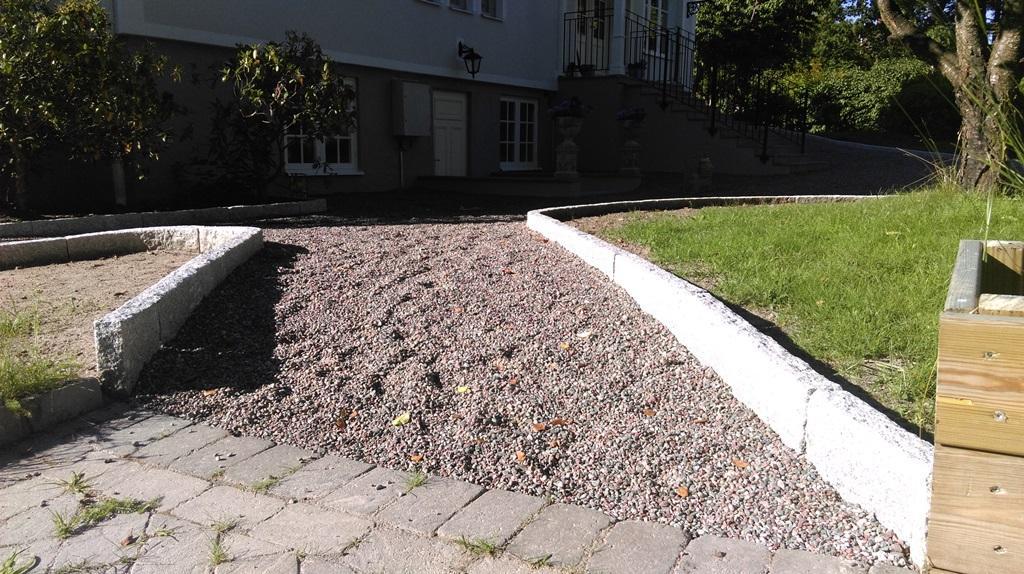 Anläggning av grusyta med gårdsgrus