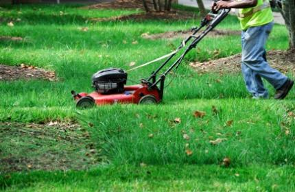 ReGardens duktiga trädgårdsarbetare hjälper dig med gräsklippningen