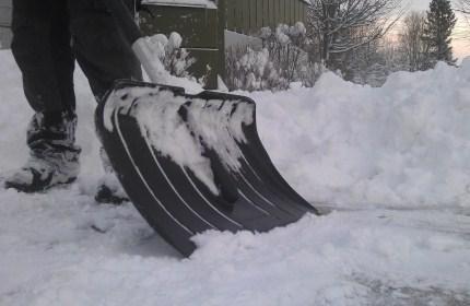 Skotta snö, snöskottning, snöröjning